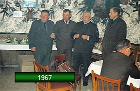 Hegering 1967 Hintere Reihe von links nach rechts: Fritz Balke, E.D. Meinecke (Ehrenhegeringleiter), Willi Lindemann, Friedrich Reckel