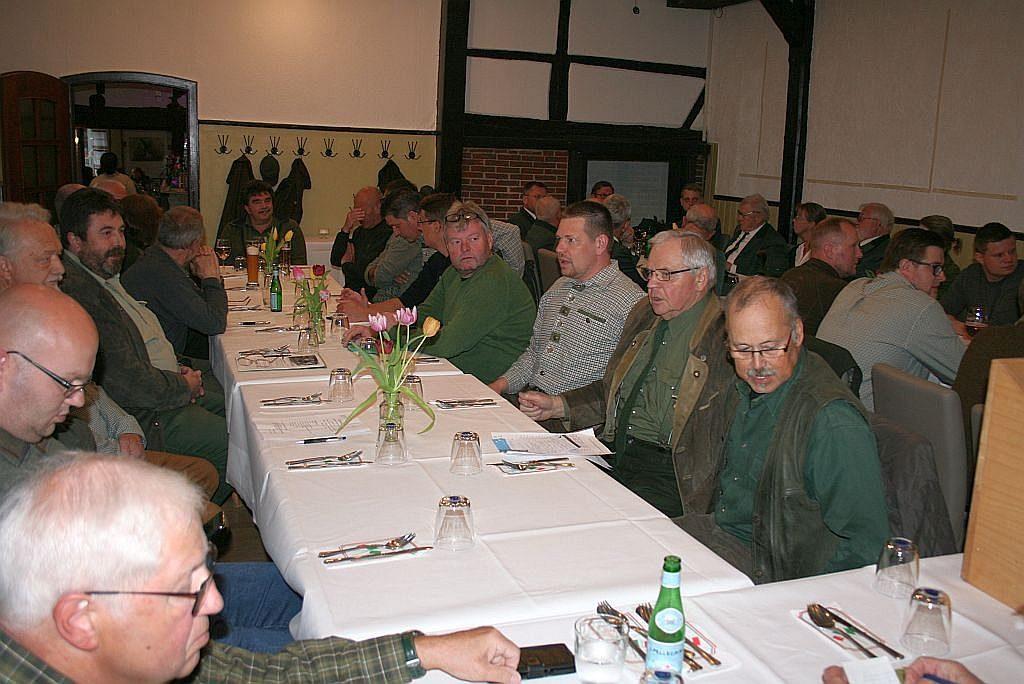 Jahreshauptversammlung 2019 des Hegering Boldecker Land auf dem Saal der Gaststätte