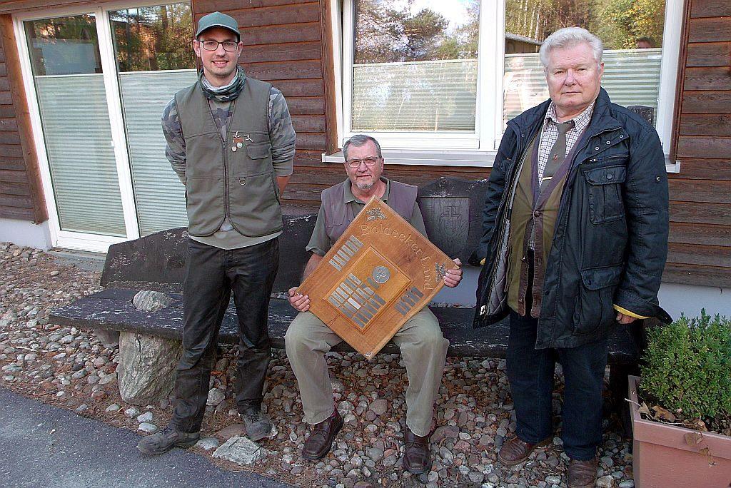 Die Sieger des Herbstschießens 2018: (von links) Lucas Fahr, Peter Warncke (Sieger), Manfred Effe.